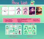 Price List~ by Cheroy