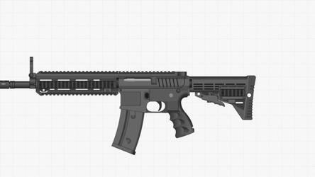 Bulldog Assault Rifle.  by GOTHAMKNIGHT12