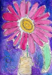 Stained Glass Flower by NightOfTheNewMoon14