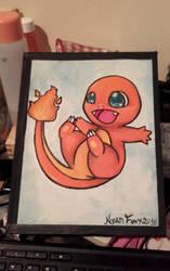 Charmander Painting by NyanFoxy