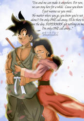 Goku and ChiChi - One Call Away by KeyknozArt