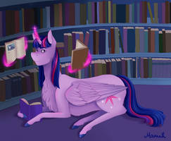 Twalot in library by ManiaK-PL