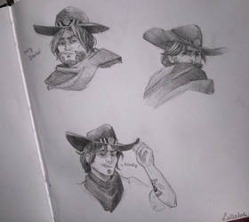 McCree sketches by ManiaK-PL