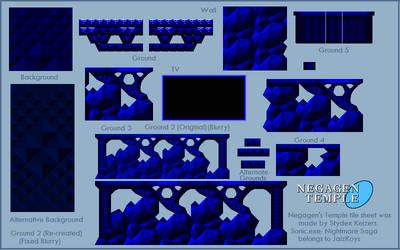 Negagen's Temple - Sprite Sheet by Stydex786