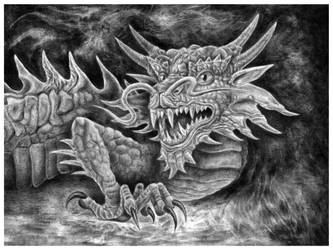 Supernatural dragon by AnOddStore