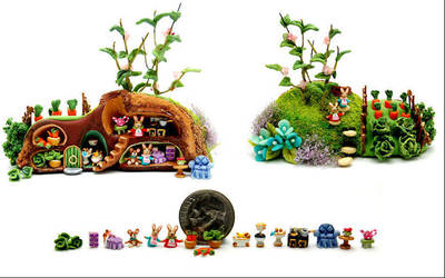 MIDDLE EARTH fairy house by WEE-OOAK-MINIATURES