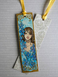 **FOR SALE** Larkspur - Watercolor Bookmark by Speckled-Egg