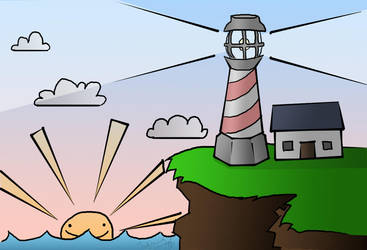 Lighthouse-Variation 1 by Ayuna-chan