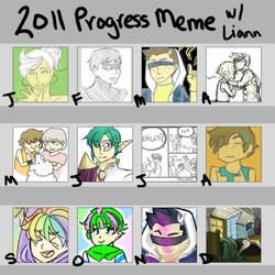 2011 progress meme by Ayuna-chan