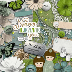 Digital Scrapbooking - Scrapkit Never leave you by Rickulein