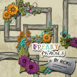 Digital Scrapbooking - Freaky Frames Elements by Rickulein