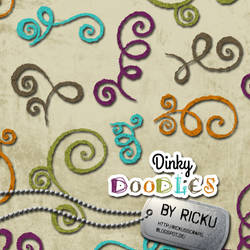 Digital Scrapbooking - Dinky Doodles Elements by Rickulein