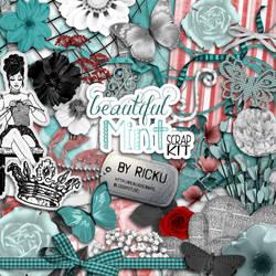 Digital Scrapbooking - Beautiful Mint Scrap-Kit by Rickulein