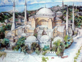 Haia Sophia in Watercolor Pencils by Stealthmoves