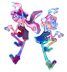 squid sisters !!!! by theultimatenootnoot