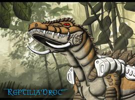 Reptilia Chameleon - Jungle by chris-illustrator