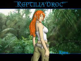 Kana in jungle wallpaper by chris-illustrator