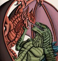 Godzilla vs Bagorah by chris-illustrator