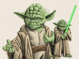 Jedi Master by chris-illustrator
