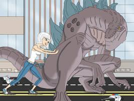 Godzilla vs Ginormica: part 4 by chris-illustrator