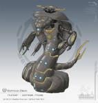 Hunter - Combat mode by chris-illustrator