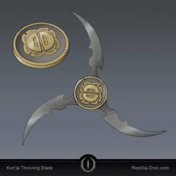 Kon'ja Throwing Blade by chris-illustrator