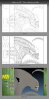 Making of The Xenomorph by chris-illustrator