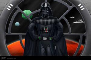 Darth Vader by chris-illustrator