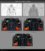 Making of Darth Vader by chris-illustrator