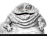 Jabba The Hutt Sketch by chris-illustrator