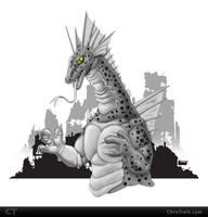 Titanosaurus Sketch by chris-illustrator