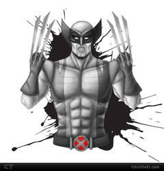 Wolverine Sketch by chris-illustrator