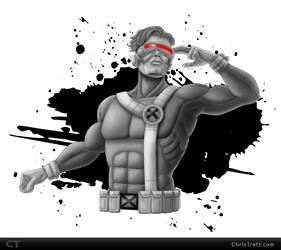 Cyclops Sketch by chris-illustrator