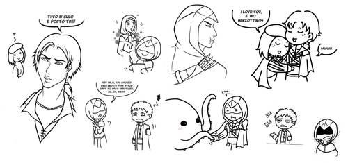 Assassin's Creed Sketchdump by Ilweran