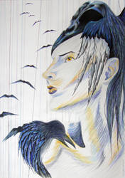 raven queen by LadyOfPearls
