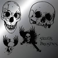 Skulls Brushews by myszka011