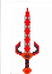 Pixelart Onehander Sword by Blockio1999