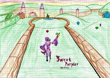 Sweet Purples the birb [DTA] by Blockio1999