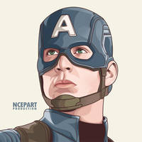 captain america on vector by Ncepart28
