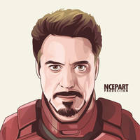 Iron man vector portrait by ncepart by Ncepart28