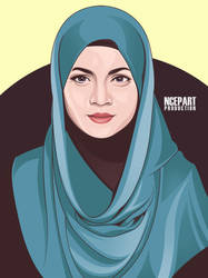 Beauty Hijaber Vector 4 by Ncepart28
