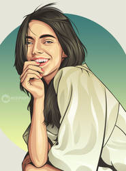 Beauty model on vector by ncepart by Ncepart28