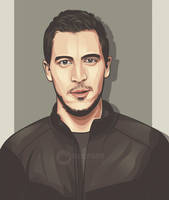 Eden Hazard on vector portrait by Ncepart by Ncepart28