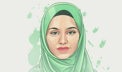 Green hijaber vector by Ncepart28