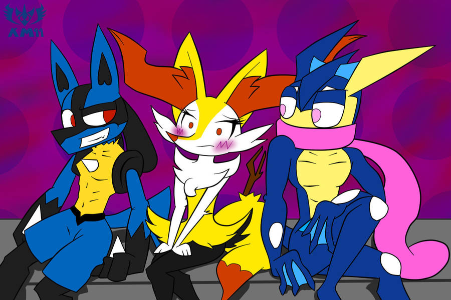 choose me lucario or greninja x braixen by knightmoonlight98 on
