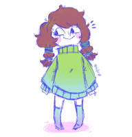 Chibi Girl Doodle by HufeArt
