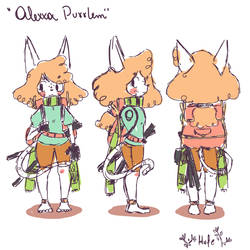Alexxa Character desing by HufeArt