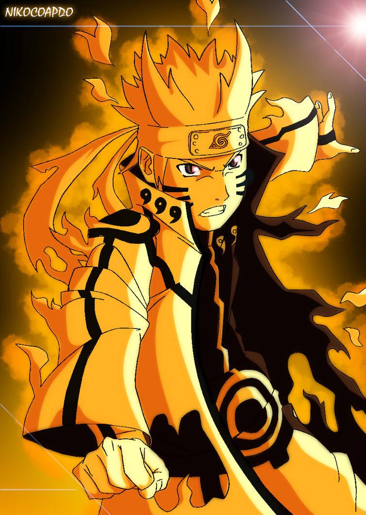 Naruto Bijuu Mode By Nikocopado On Deviantart