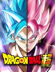 Goku and Black - Color by nikocopado