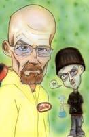 Walt and Jesse by charlando